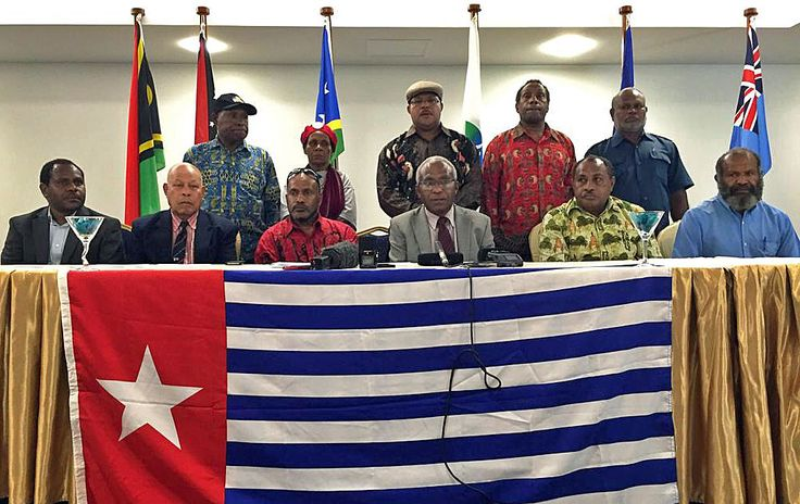 Membrs of the ULMWP delegation at MSG meeting in Solomon Islands. Read the July 2015  West Papua Report.