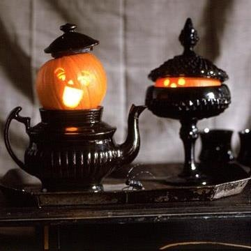 Black teapot halloween