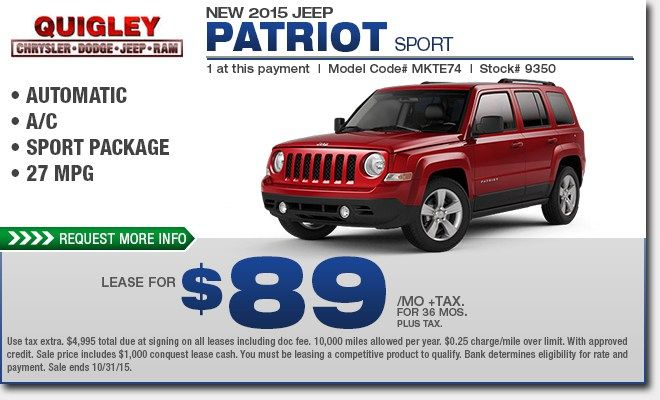 Great Jeep Patriot For Lease