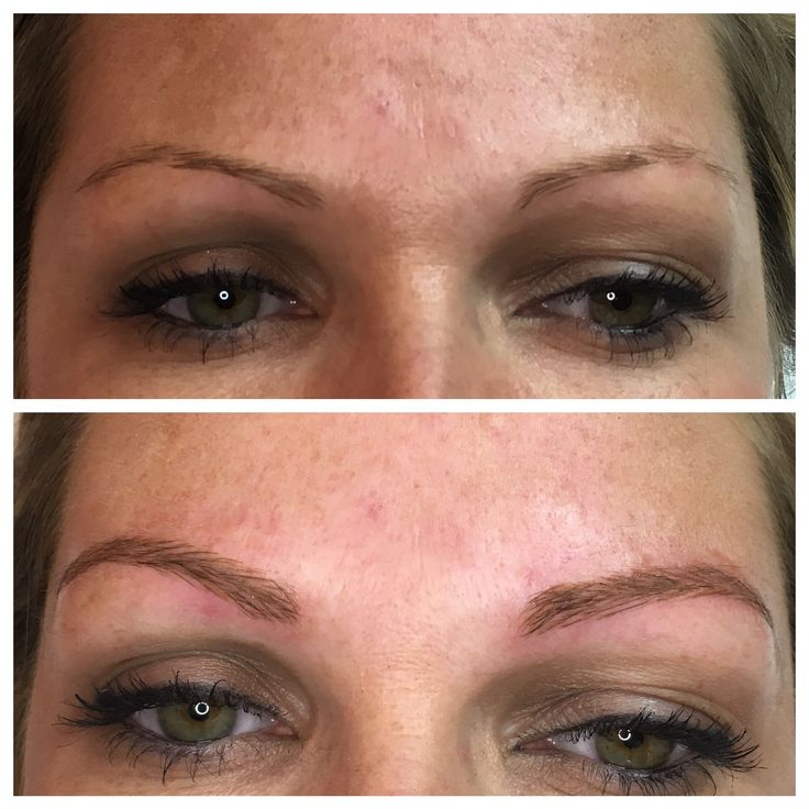 Microblading is also great for blondes too! These brows will heal soft and natural
