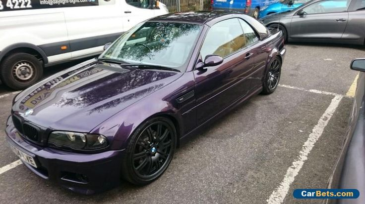 BMW E46 M3 Individual Techno Violet 3.2 manual convertible #bmw #m3 #forsale #unitedkingdom