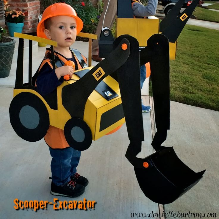 made: Happy Hallween + Construction Equipment Costume Tutorial {DIY}