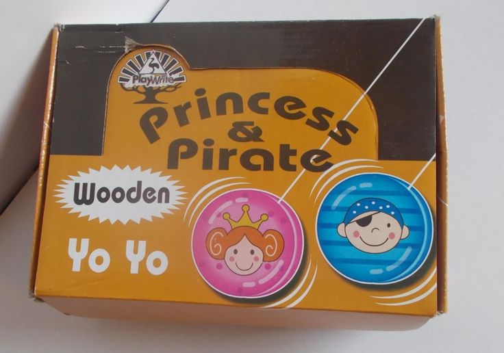 princess & pirate wooden yo yo playwrite, pink & blue, party favors 24 pcs lot  #Playwrite #BirthdayChild
