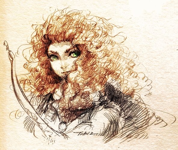 Sketch of Brave by =Feohria on deviantART