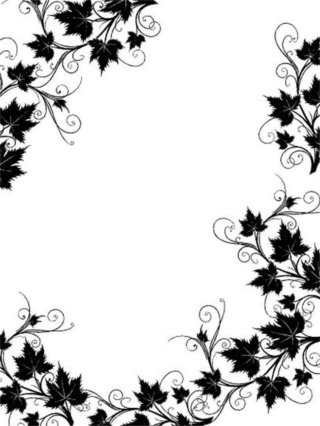 Black And White Flowers Pattern Poster Background أبيض وأسود الزهور نمط خلفية ملصق Black And White Flo Clip Art Borders Black And White Flowers Border Design