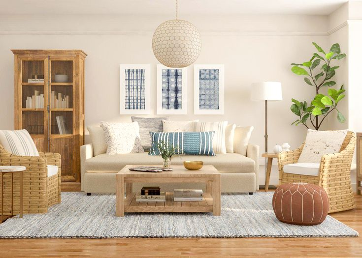 Rustic Warmth: 9 Easy Ways To Nail A Rustic Style. Rustic Beachy Living Room  Design Inspiration