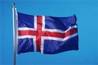 the iceland flag