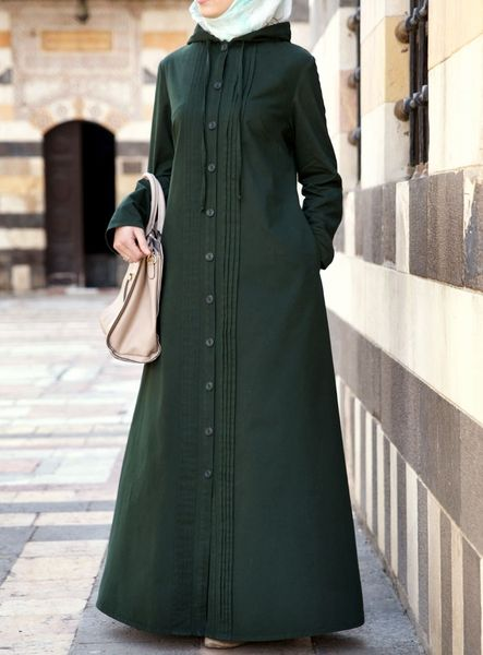 A comfortable, throw-on jilbab with an easy buttoned opening and a simple, flattering silhouette is our idea of a perfect casual ensemble.…