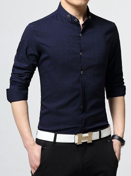 $10 OFF . Men's Button Front Mandarin Collar Shirts
