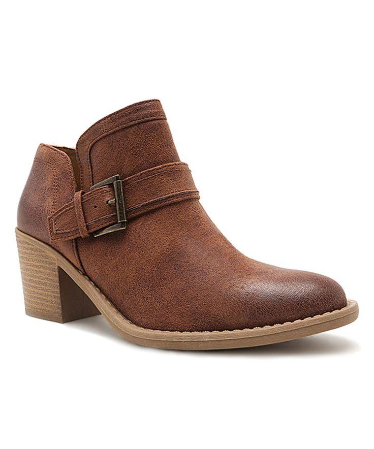 Look at this #zulilyfind! Qupid Cognac Tobin Low Ankle Boot by Qupid #zulilyfinds