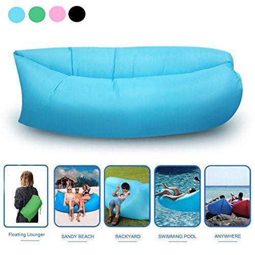Géant Bean Bag, y & M (TM) Chaise longue gonflable air ballon rempli, meubles, chaise longue de plage en polyester pratique de compression…