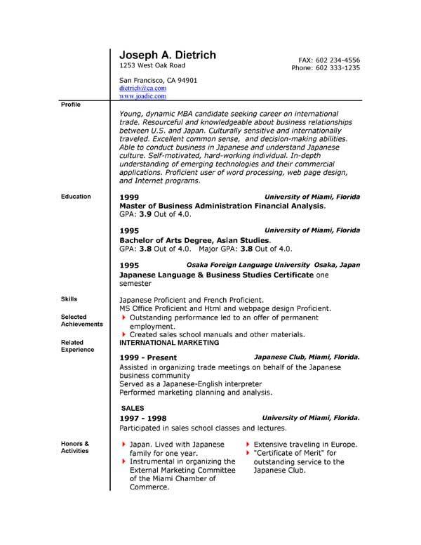 free resume wizard download