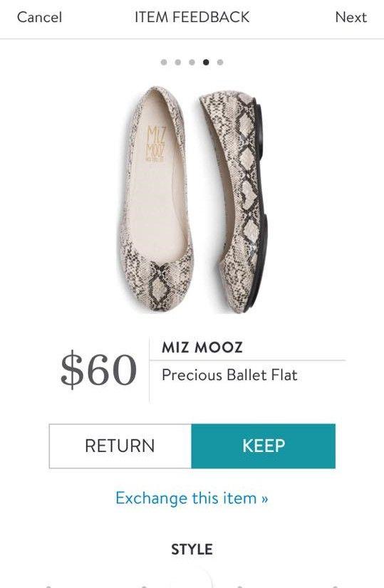 MIZ MOOZ Precious Ballet Flat from Stitch Fix. https://www.stitchfix.com/referral/4292370