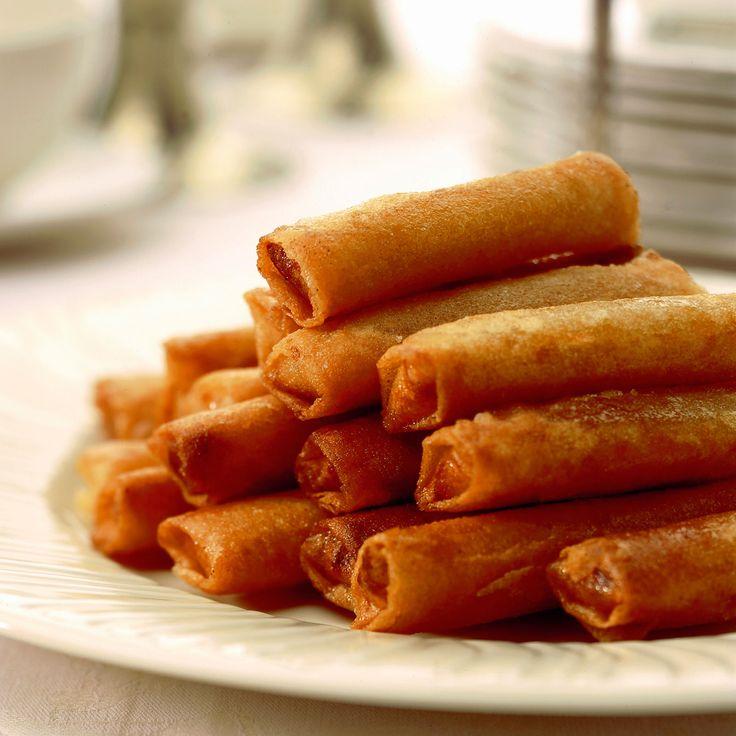 Découvrez la recette Cigares aux amandes et au miel sur cuisineactuelle.fr.