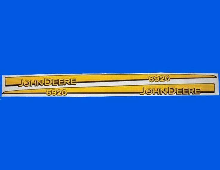 Aufkleber Motorhaube Haubenaufkleber John Deere 6120 bis 6920