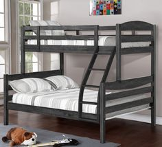 Features:  -Unstackable.  -Style: Rustic.  -Material: Wood.  -Mattress not included.  -Can be separated into two beds.  -Removable cushion covers: Yes.  Frame Material: -Wood. Dimensions:  Overall Hei
