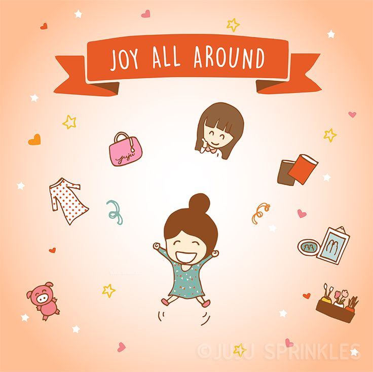 konmari to the rescue!  10 Illustrations That Perfectly Sum Up The KonMari Method – Part 2 of 2 – Juju Sprinkles
