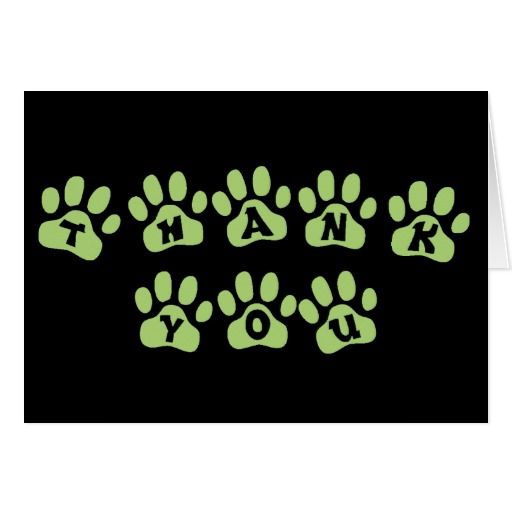 green paw print text design