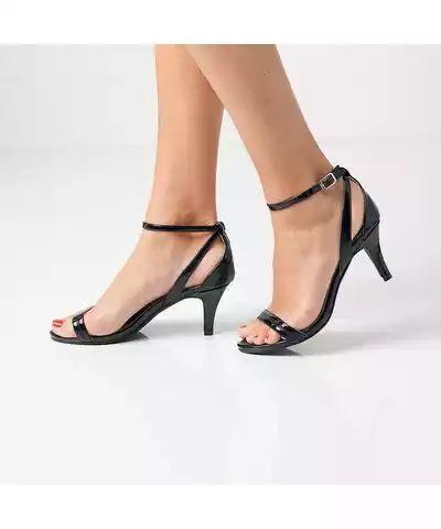 Blancheporte Páskové boty na podpatku černá