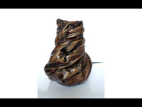 Jarrón hecho con tela, DIY, florero. Vase with Fabric. - YouTube