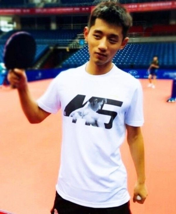 Zhang Jike 445 Grand Slam Mens Womens Table Tennis Commemorative Edition T-shirt