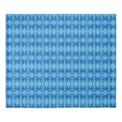 #vintage - #Blue Duvet Cover inspired by Vintage Butterflies