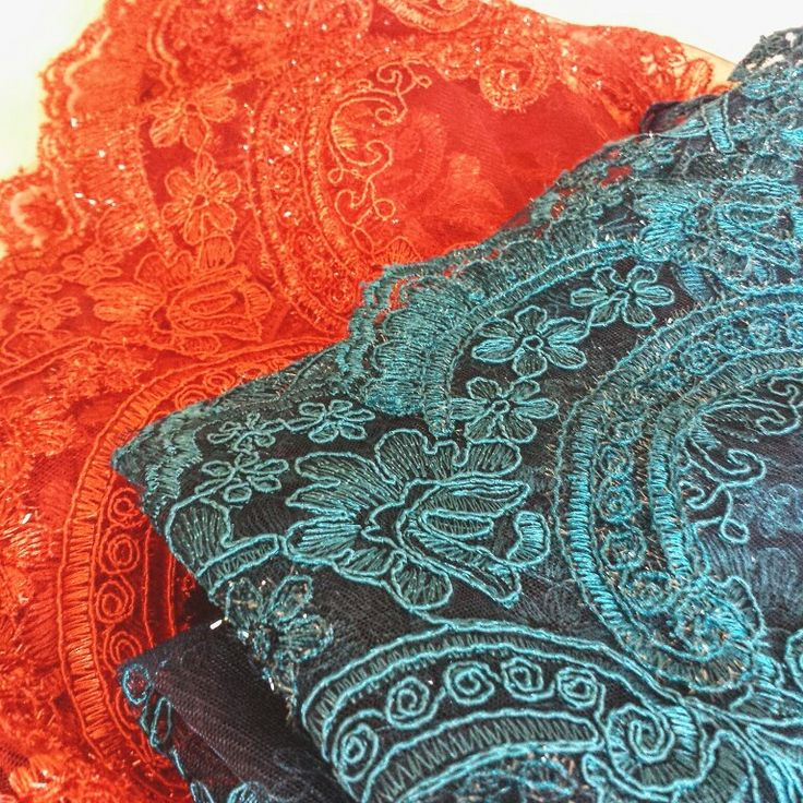 Lovely lace in vinbrant hues | Deliveries are definitley a daily highlight!   www.Etsy.com/au/shop/CASSANDRAthelabel
