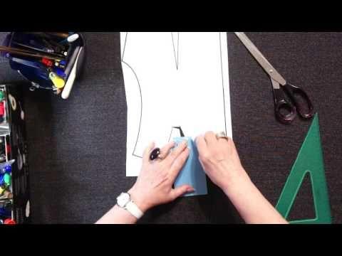 Перевод плечевой вытачки в горловину по методу Светланы Поярковой - YouTube