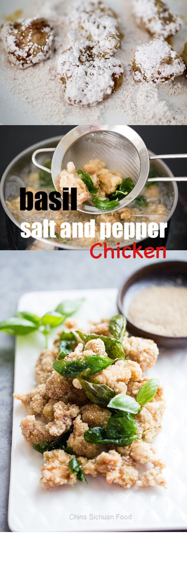 Taiwanese Salt and Pepper Chicken-Basil Peppercorn Chicken