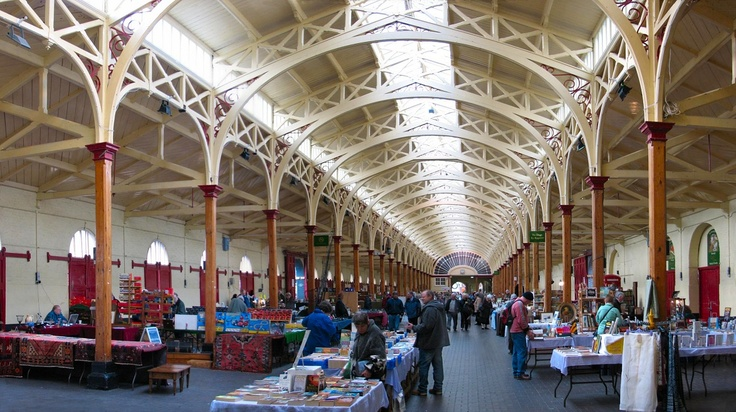 The Pannier Market - Barnstaple has been the major market for North Devon since Saxon times. Demands for health regulation of its food market in Victorian times saw the construction in 1855 to 1856 of the town's Pannier Market, originally known as the Vegetable Market and designed by R D Gould.