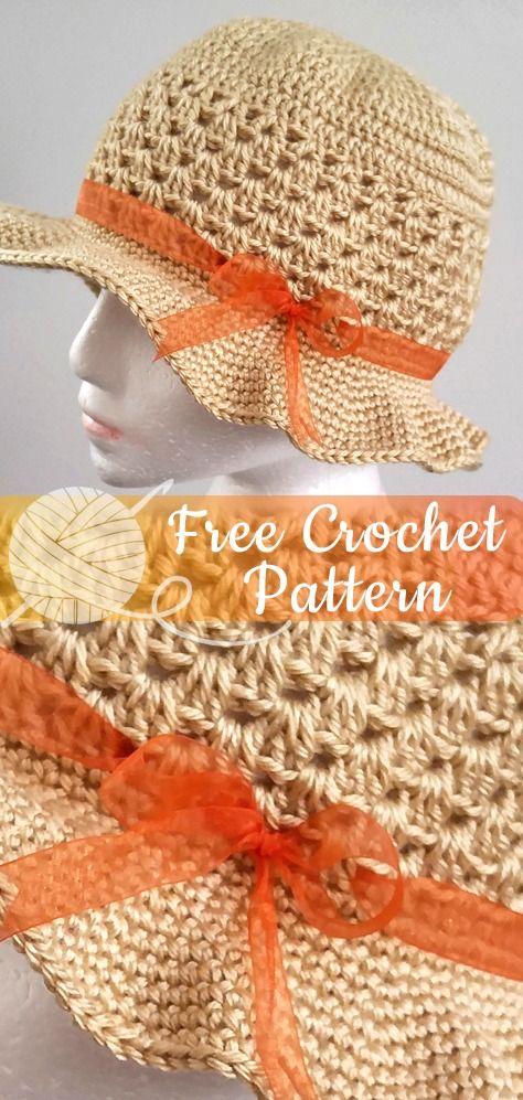 Chapéu de Verão da Robyn - Padrão de Crochê Livre