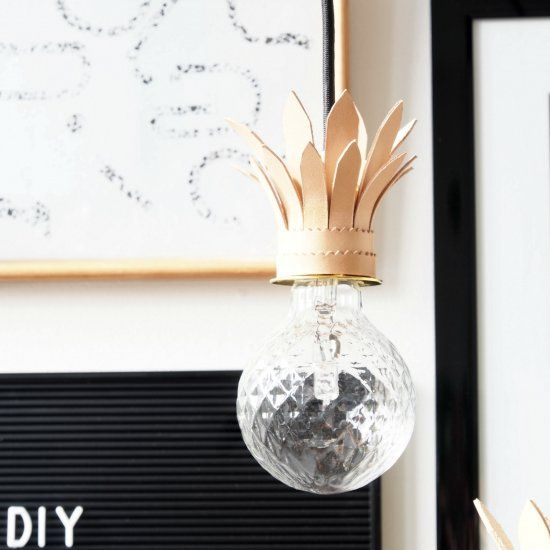 Make an exotic statemtent indoor and create these pineapple pendant lights for your space