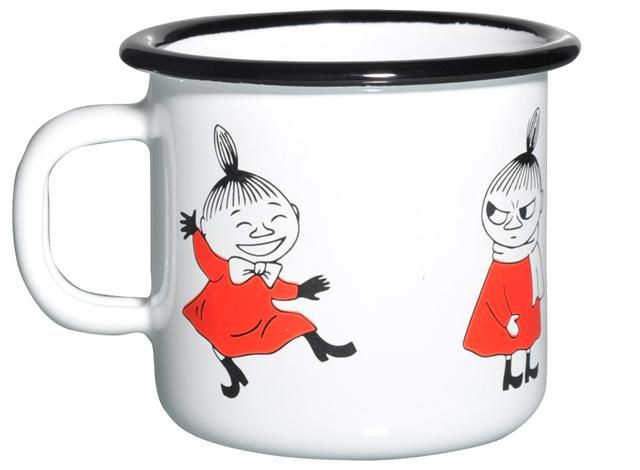 Muumi Emalimuki / Moomin Enamel Mug Retro, Little My #Muurla #Muumimuki
