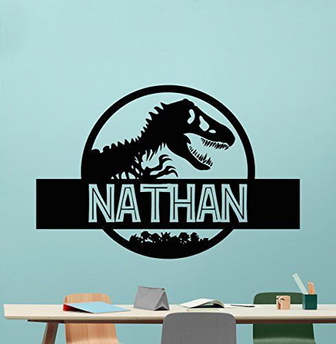 Custom Name Jurassic Park Logo Wall Decal Personalized