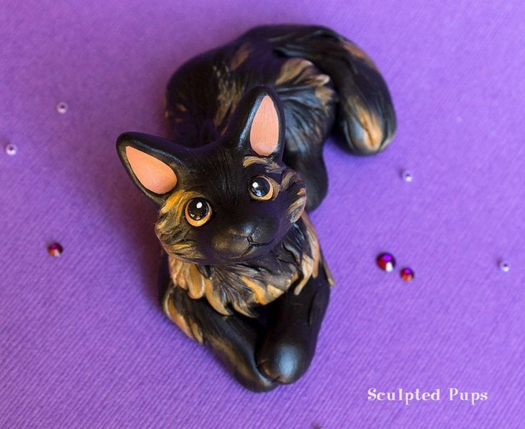 Smudge cat sculpture commission by SculptedPups.deviantart.com on @DeviantArt
