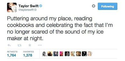 When she also thought every single creak, whoosh, or slight bump in the night was someone coming to kill you: | 21 Taylor Swift Tweets That Prove She's Always Said What You Were Thinking