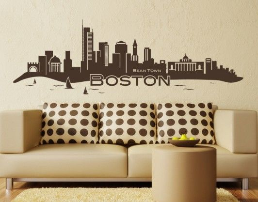 Best BostonCity Ideas Images On Pinterest Boston Skyline - Custom vinyl wall decals falling off