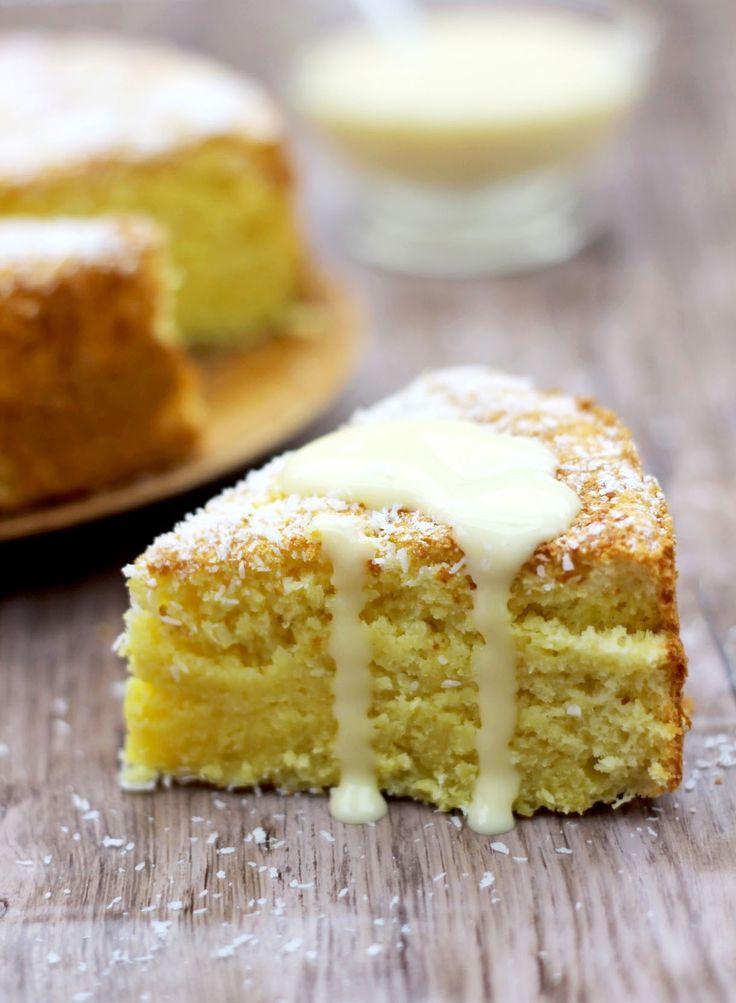 Un gâteau parfait pour un goûter d'anniversaire, à la texture très moelleuse. À servir avec une crème anglaise maison.