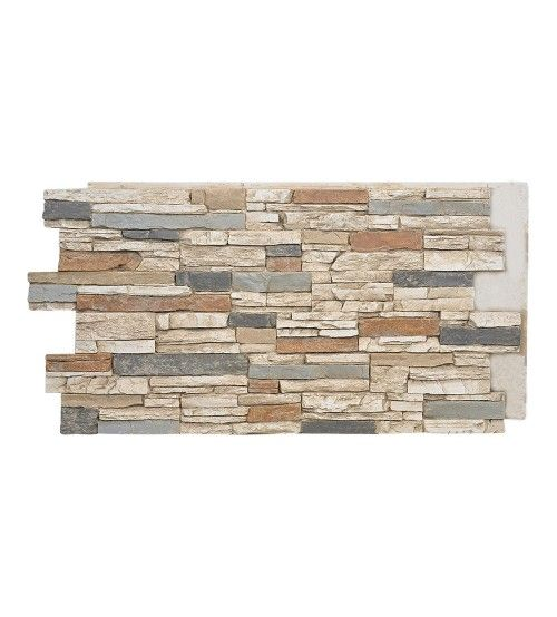 "#139- SAHARA- Deep Stacked Stone Design Wall Panel 48""W x 24""H x 1½""D"