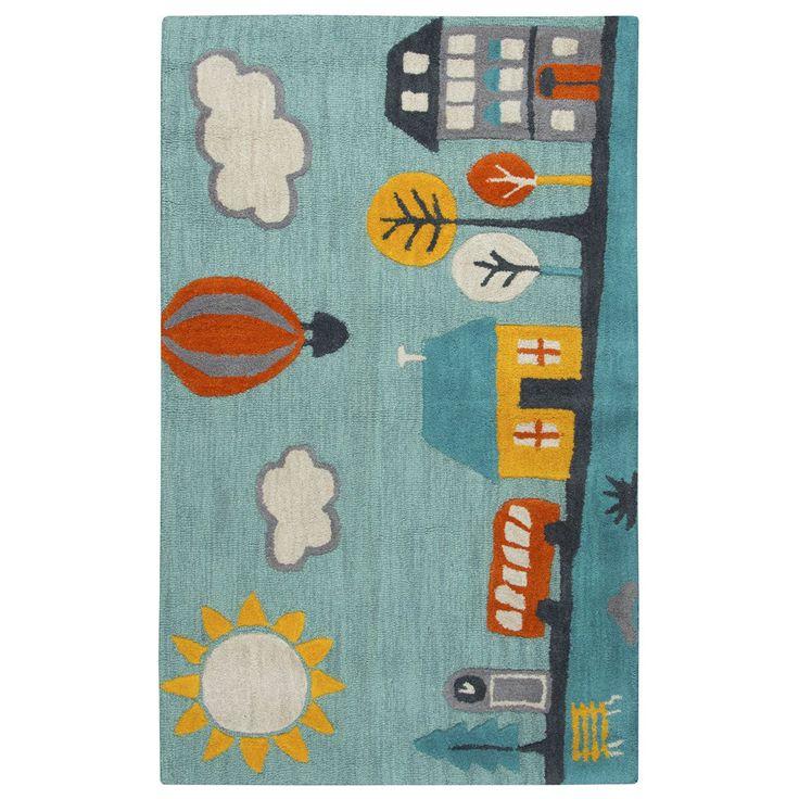 Rizzy Home Multicolored Wool Hand Tufted Novelty Rug (3u0027x5u0027) (