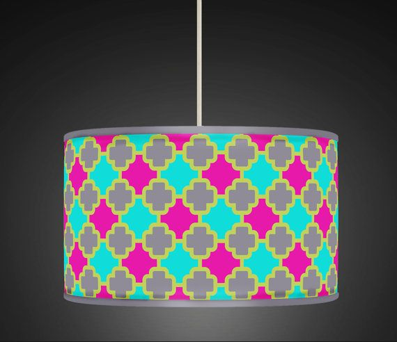 30cm Hot Pink Aqua Grey Moroccan  Retro Handmade by ArkHouse