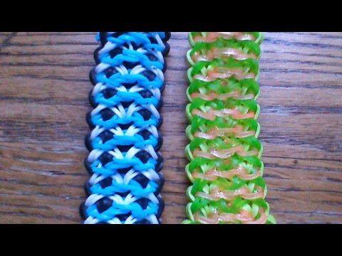 NEW Rainbow Loom Fantasmic Bracelet - YouTube Uses 5 pin bars