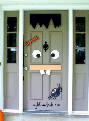 Create a Halloween door decoration that your kids and neighbors will love!