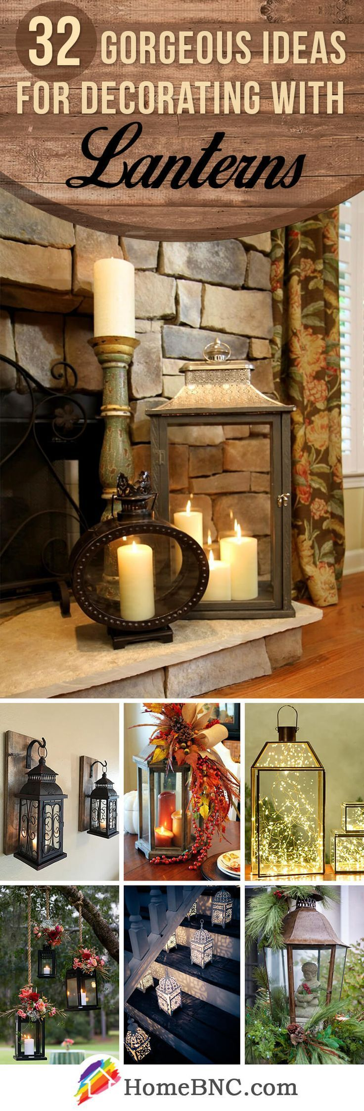 Lantern Design Ideas. Candles are perfect for the home and I especially love them in my Christmas Decorations. Great for Party Decorations too, here are plenty of tips and ideas for decorating with lanterns