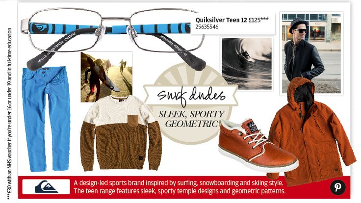 Quiksilver glasses for teens are just as cool as the brand's relaxed surf and snobo wear.  Available at Specsavers.