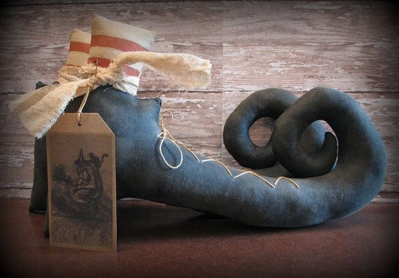 Happy Halloween!!! Witch Boots Extreme Primitive Halloween Decoration by ThatSallie