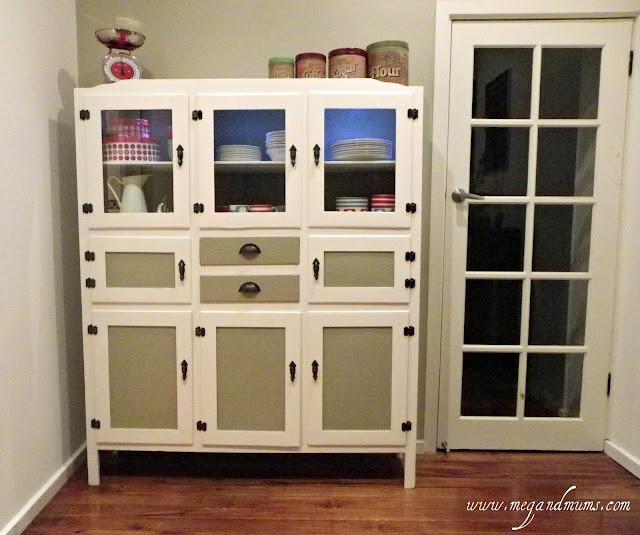 very old (1930s to 40s) kitchen dresser