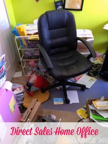 Direct Sales Home Office - Before | Organize 365