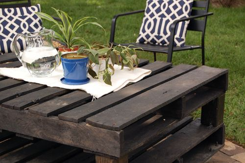 "Outdoor Pallet ""Coffee"" Table"