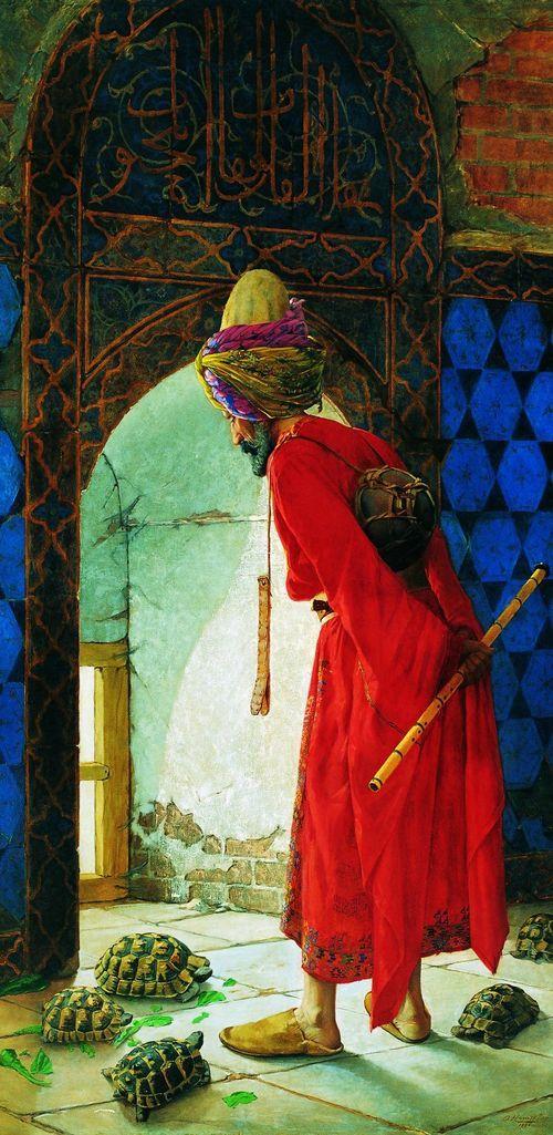 Kaplumbaga Terbiyecisi- Osman Hamdi Bey